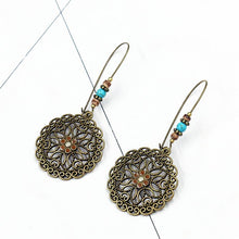Load image into Gallery viewer, Bohemian Retro Long Hollow Flower Earrings