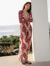 Load image into Gallery viewer, See-Through Jacquard Beach Maxi Dresses