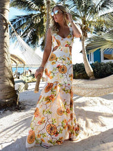 Load image into Gallery viewer, Chiffon Floral Hollow Maxi Dresses
