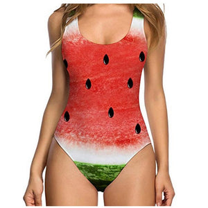 Fresh Fruits One Piece Sexy Shell Swimsuit