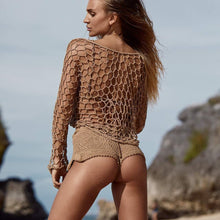Load image into Gallery viewer, Fishing Nets Hooks Sexy Vacation Beach Cover-Up