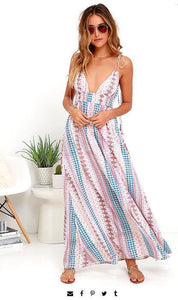 Spaghetti Strap Beach Maxi Dress