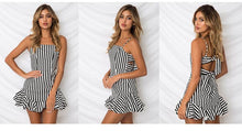 Load image into Gallery viewer, Sexy Spaghetti Strap Printed Beach Mini Dress