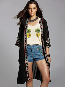 Summer Cardigan Chiffon Embroidery Sun Protection Clothing