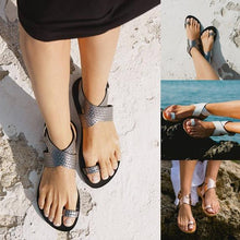 Load image into Gallery viewer, Beach Open Toe Flat Clip Toe Sandals