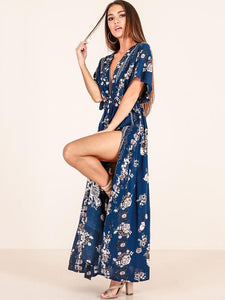 Bohemia Printed Split-side Maxi Dresses