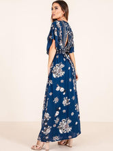 Load image into Gallery viewer, Bohemia Printed Split-side Maxi Dresses