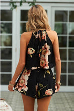 Load image into Gallery viewer, Flower Sleeveless Beach Rompers