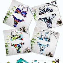Load image into Gallery viewer, Sexy Split Bikini Braided Straps Coconut Tree Print Swimsuit