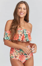 Load image into Gallery viewer, Strapless High Waist Floral Printed Off-the-shoulder Ruffled Swimsuit-2