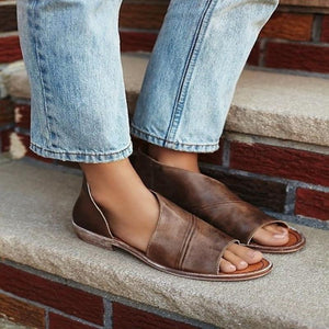Beach Summer SIDE OPEN CASUAL SOLID OPEN TOE SANDALS