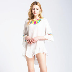 Knit New Hollow Beach Swimwear Bikini Cover Up
