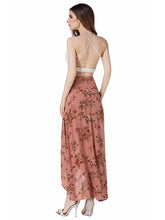 Load image into Gallery viewer, Flower High Waist Split Beach Maxi Skirt