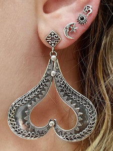 4PCS Multi Shape Alloy Earring Accessories