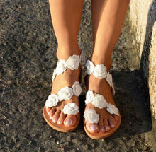 Load image into Gallery viewer, Summer Rome Beach Flat Bottom Sandals Shoes
