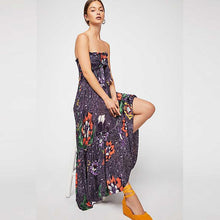 Load image into Gallery viewer, Sexy Bohemian V-Neck Print Slits Chiffon Beach Dress