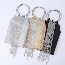 Load image into Gallery viewer, Portable Aluminum Sheets Tassels Evening Bags Banquets Sequins Clutches