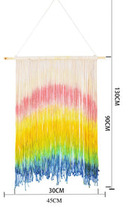 Bohemia Hand Made Dyeing Rainbow Tapestry