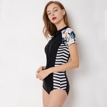 Load image into Gallery viewer, Siamese Surf Suit Short Sleeve Female Swimsuit