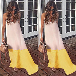Casul Beach Chiffon Sling Sexy Long Dress