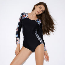 Load image into Gallery viewer, Sexy Connected Women Swimming Suit Hot Spring Surfing Suit Diving Long Sleeve Swimming Suit