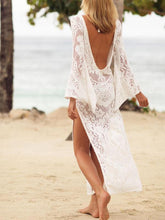 Load image into Gallery viewer, Spring And Summer New Sexy Lace Backless Beach Dress