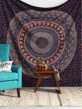 Load image into Gallery viewer, Vintage Bohemia Mandala Floral Beach Tapestry