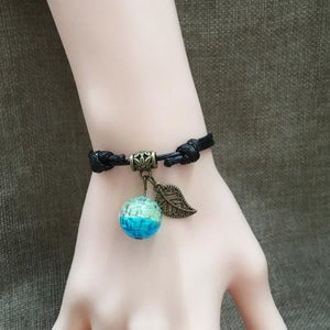 Dreamy Galaxy Starry Sky Romantic Glowing Glass Ball Luminous Couple Bracelet