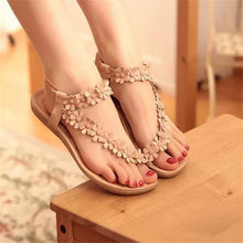 Load image into Gallery viewer, 2018 Summer Beach Flower Bohemia Flat Heel Sandals