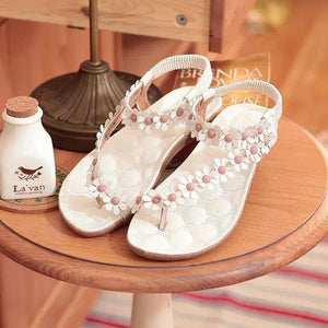 2018 Summer Beach Flower Bohemia Flat Heel Sandals