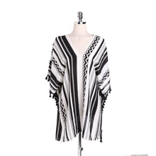 Load image into Gallery viewer, Stripe Tassel Summer Bikini Cover Up