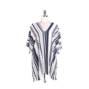 Stripe Tassel Summer Bikini Cover Up