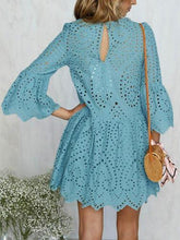 Load image into Gallery viewer, Summer Lace Splice Solid Color Mini Dress