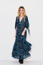 Load image into Gallery viewer, Spring and Summer Print Bohemian V-Neck Cropped Sleeves Holiday Dress