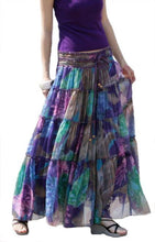 Load image into Gallery viewer, Bohemian Floral Printed Mid-Calf Pleated Chiffon Skirt