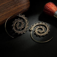 Load image into Gallery viewer, Retro Alloy Heliciform Hollow Earrings