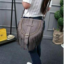 Load image into Gallery viewer, Women Tassel Messenger Bag Faux Suede Fringe Tassel Boho Hippie Gypsy Style Cross body Bag