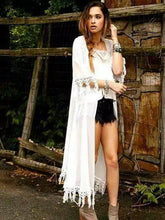 Load image into Gallery viewer, New Arrival lace tassels elegant sunscreen chiffon shirt cardigan sunscreen shirt