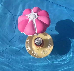 Inflatable Flower Floating Cup Holder Beer Drink Cup Sitting Mobile Phone Seat Swimming Toy