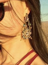 Load image into Gallery viewer, 1 pair Sun & Moon Earring Fashion fringed Bohemia Jewelry for Party