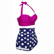 Load image into Gallery viewer, Polka Dot Sexy Women High Waist Bottom Bikini Swimwear Bikini Set