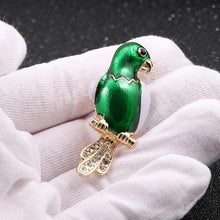Load image into Gallery viewer, Gem Parrot brooch