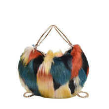 Load image into Gallery viewer, Autumn And Winter One Shoulder Slung Portable Plush Bucket Bag