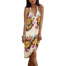 Load image into Gallery viewer, Women Floral Beach Dress Sexy Sling Beach Cover-ups