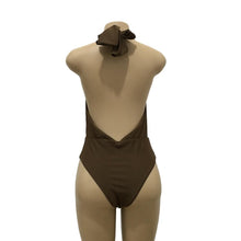 Load image into Gallery viewer, Solid Bandage Halter-neck One-piece Swimwear