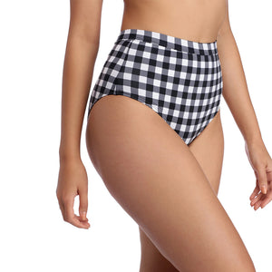 Plaid High Waist Ladies Two-piece Bikini