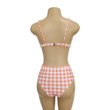 Load image into Gallery viewer, Plaid High Waist Ladies Two-piece Bikini