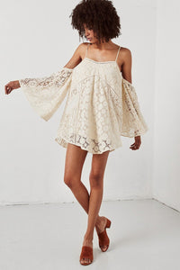 Lace Off Shoulder Sexy Mini Dress