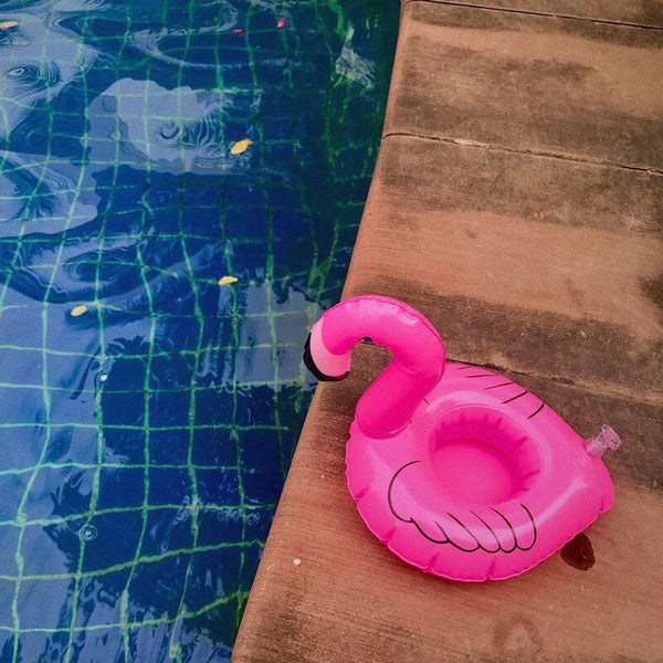 Flamingos Inflatable Floating drink holder Swimming Toy
