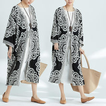 Load image into Gallery viewer, Plus-Size Increase Long Cardigan Tie Shawl National Style Retro Wild Sun Protection Clothing